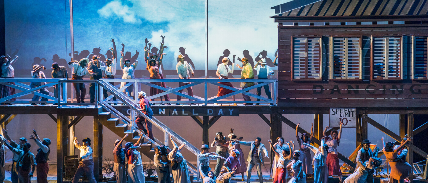 Photo of stage production of Porgy and Bess