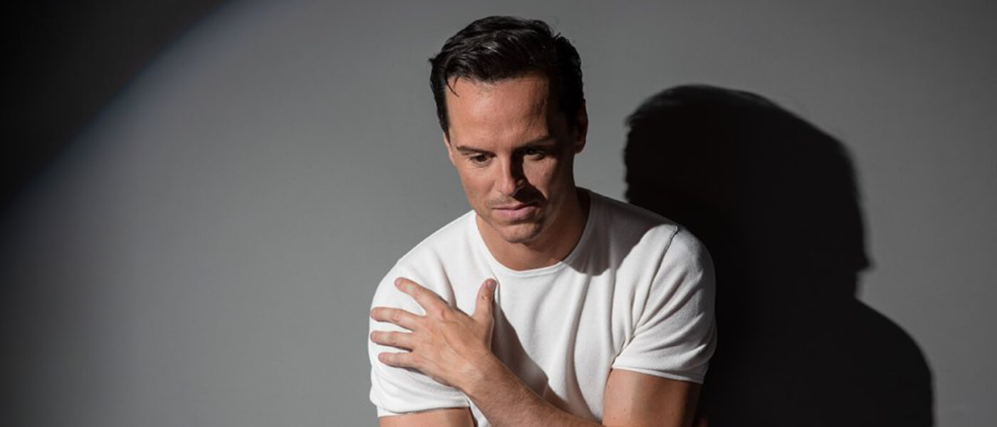 Photo of Andrew Scott (BBC's Sherlock, Fleabag) in Noël Coward's provocative comedy Present Laughter presented in HD from the National Theatre in London