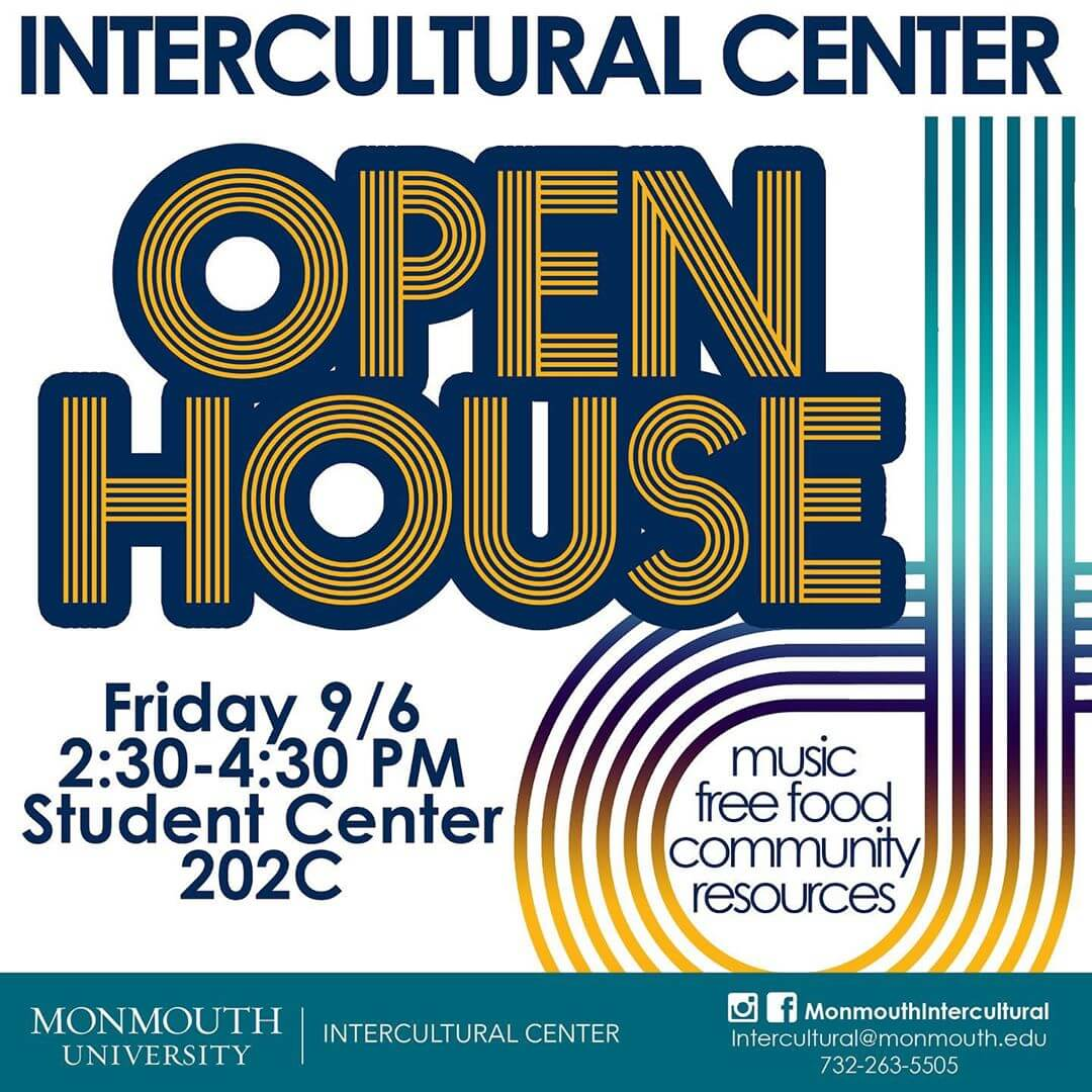 Images shows flyer for Intercultural Center Open House