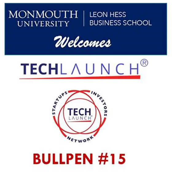 Photo image of flyer announcing Tech Launch Bullpen #15 at Monmouth University