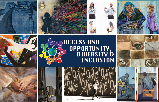 Photo image of poster for Access and Opportunity, Diversity & Inclusion event at Monmouth University