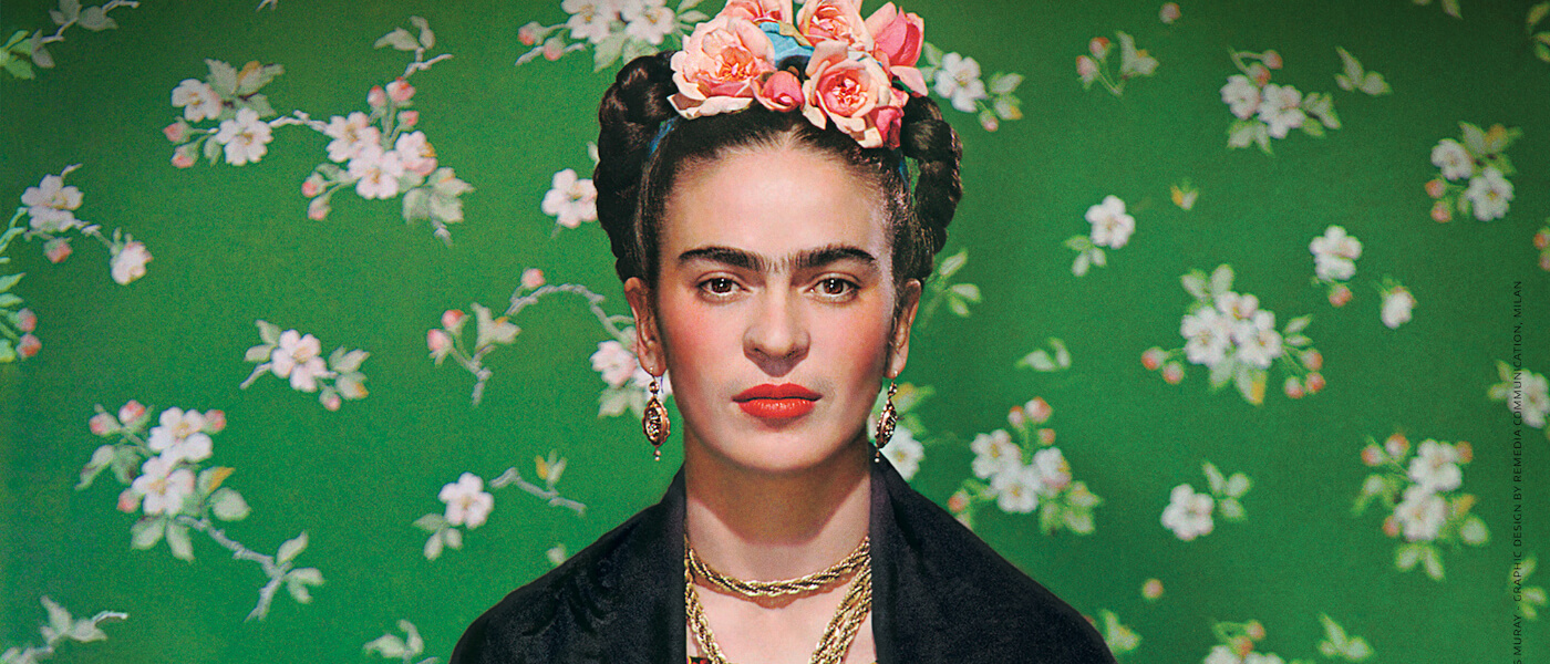 Promotional photo for Frida – Viva La Vida is a cinematic documentary event film that highlights the two sides of Frida Kahlo's spirit