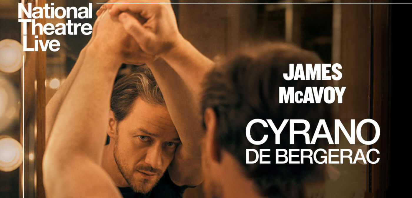 Promotional photo of James McAvoy for the National Theatre's production of Cyrano De Bergerac