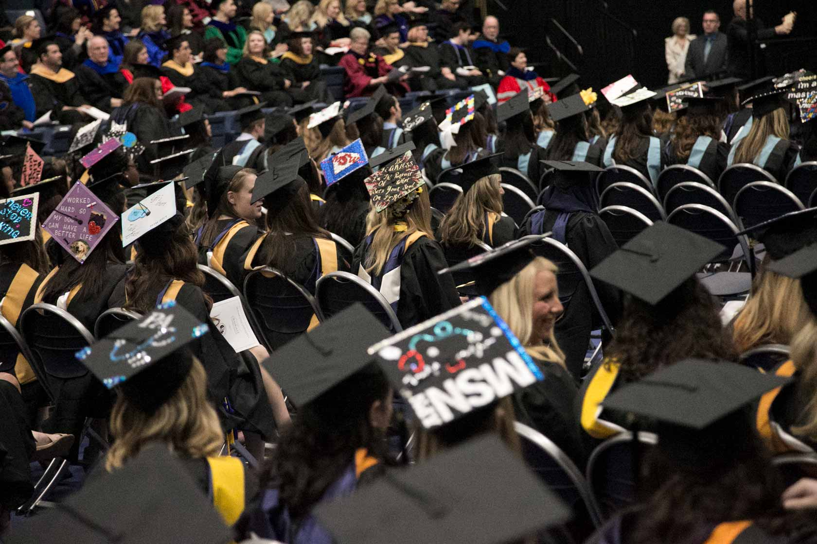 Photo of Monmouth University Graduate Students Attending Commencement Ceremony