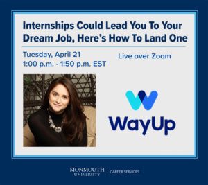 Promotional Image for April 21, 2020 Virtual Guest Presentation on Internships