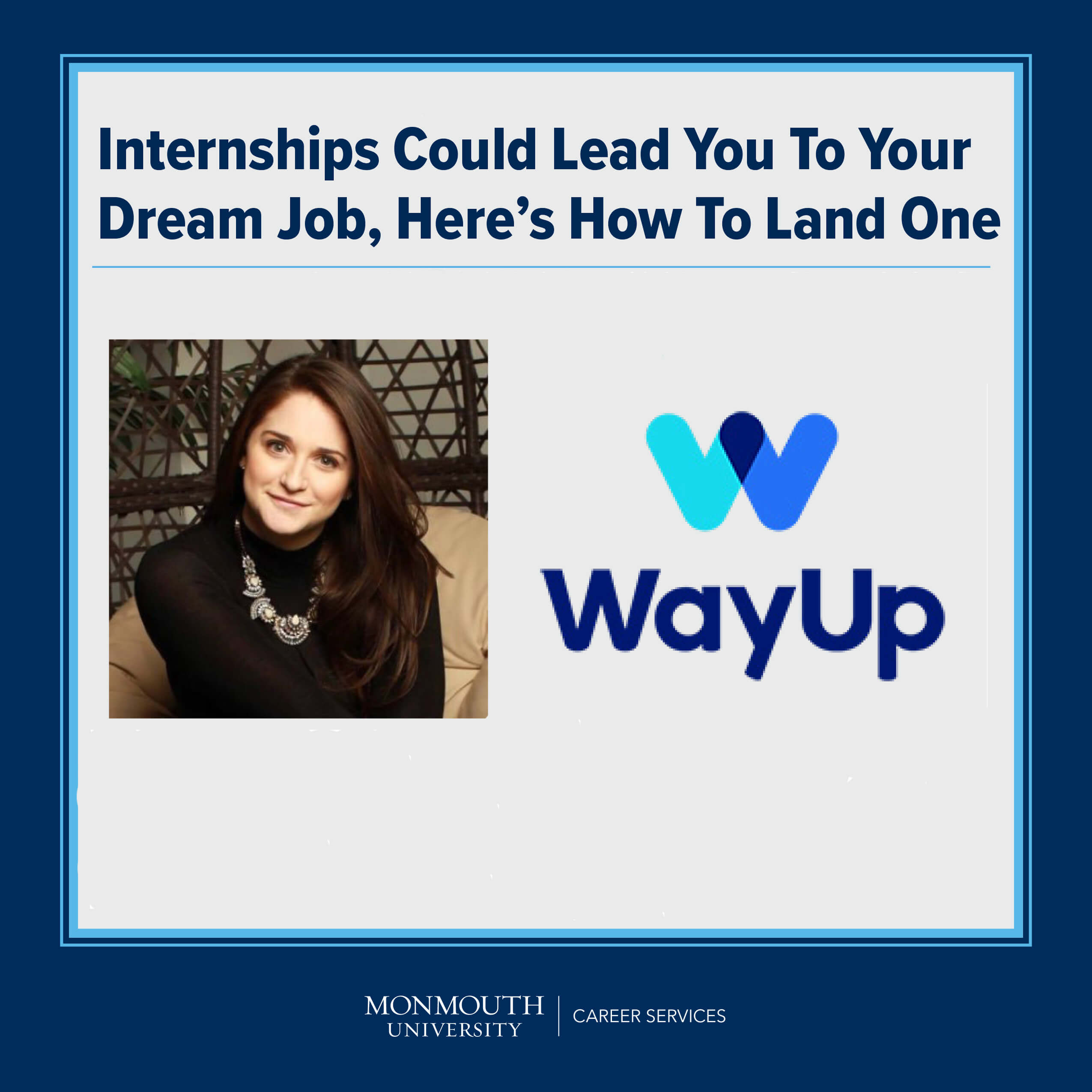 Promotional Image for Upcoming Virtual Guest Presentation on Internships