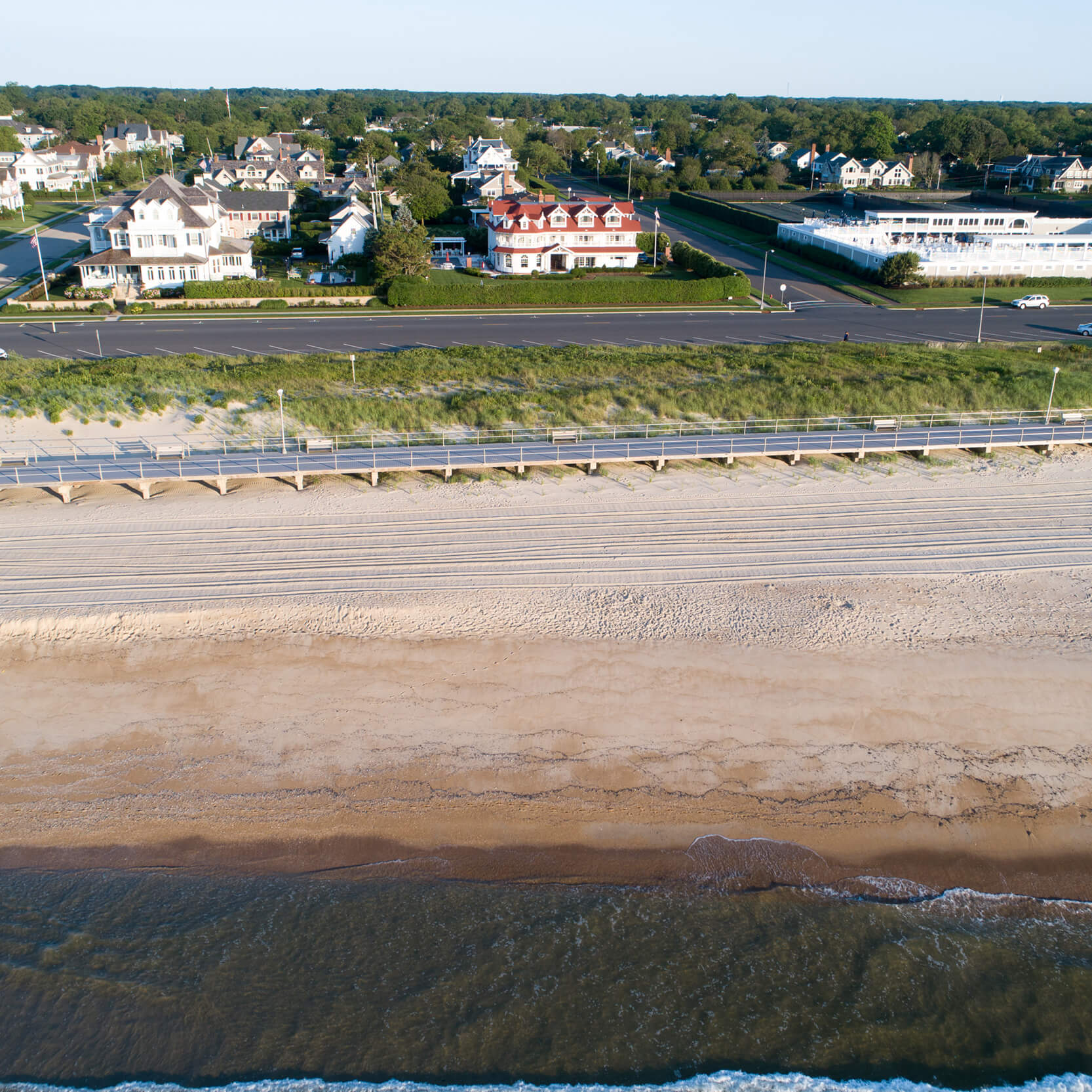 Aerial View Photo of Coastal Erosion at Beach in New Jersey