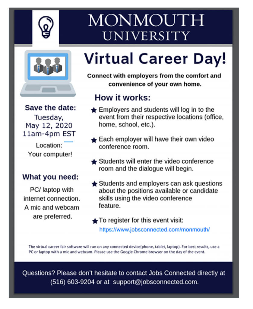 Click on Image for Registration to Attend the Virtual Career Day