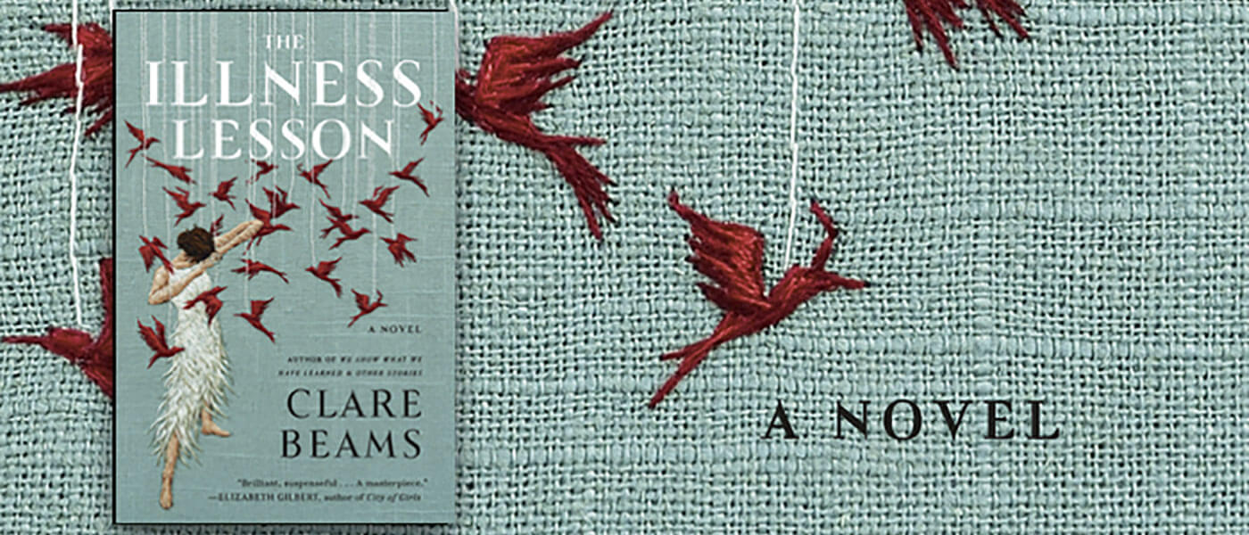 Photo of book cover for Clare Beams' The Illness Lesson