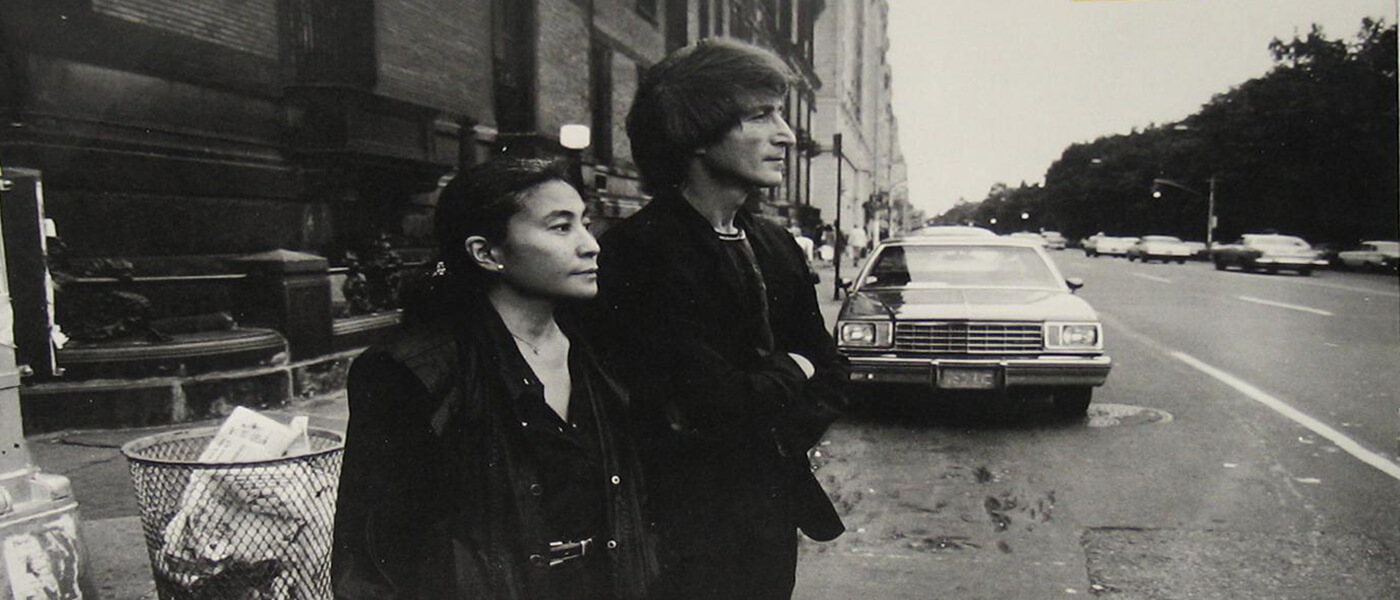 Photo image of John Lennon and Yoko Ono in New York City