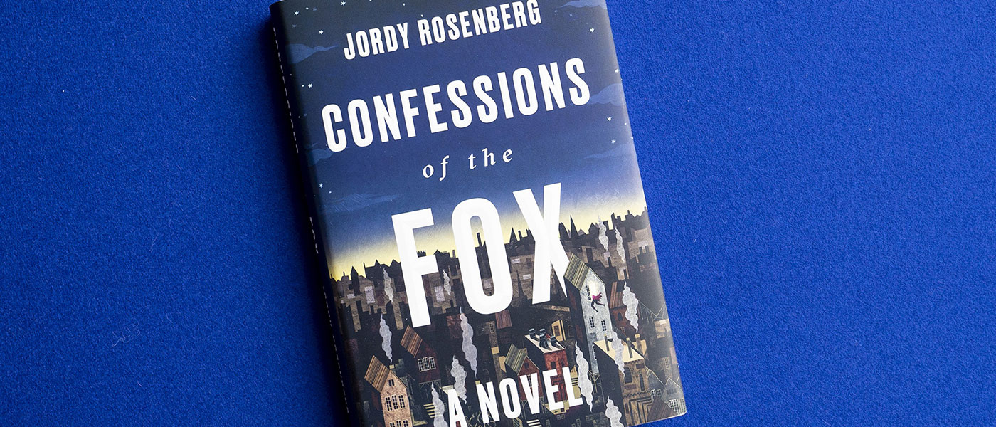 Photo image of bookcover for the novel Confessions of the Fox by Jordy Rosenberg