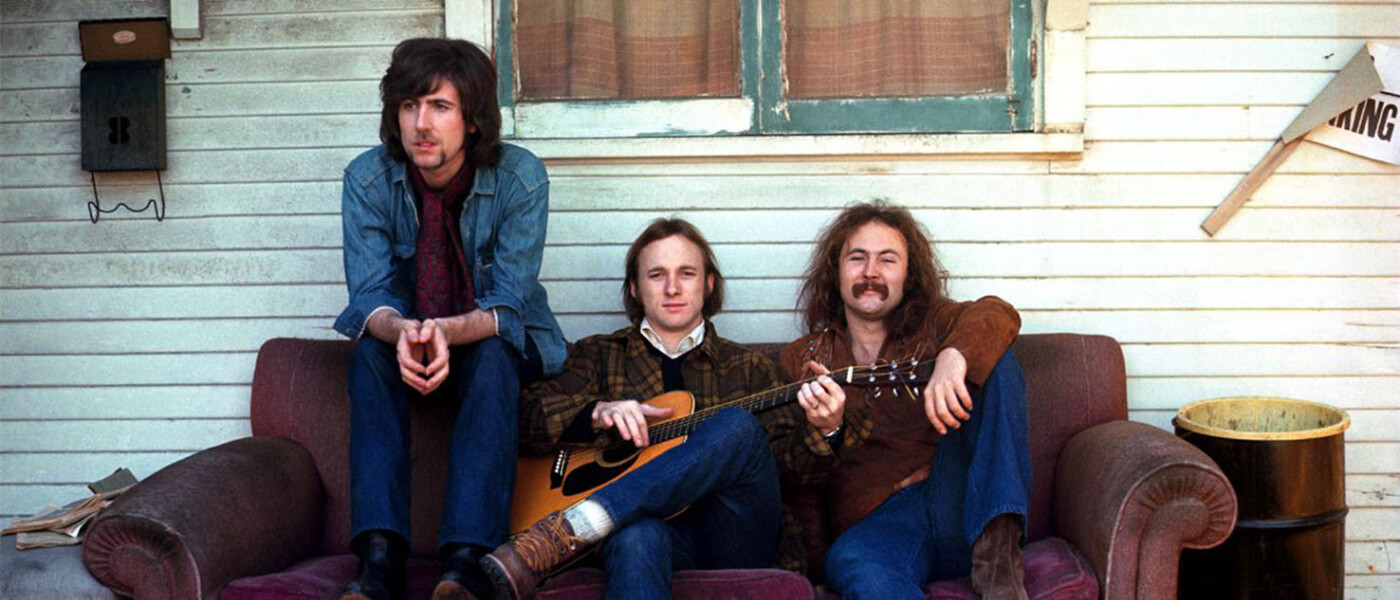 Photo of album cover of Crosby, Stills and Nash's self-titled debut album
