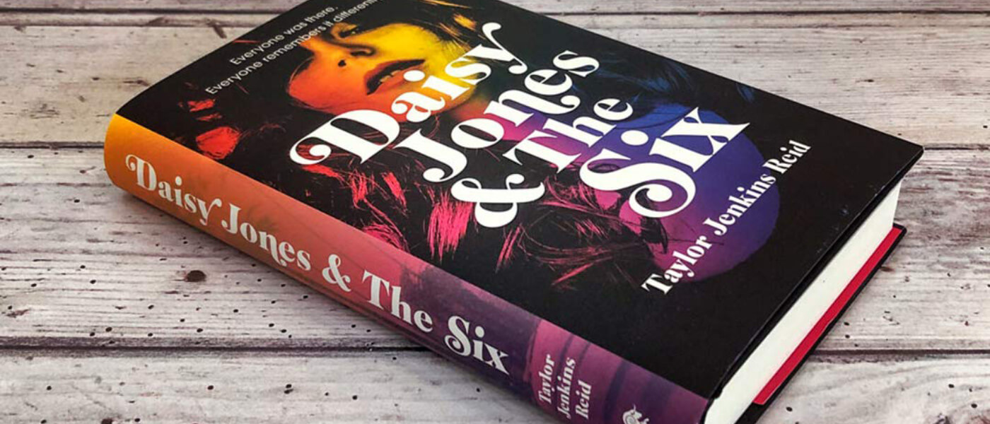Photo of book cover of Taylor Jenkins Reid's Daisy Jones and the Six