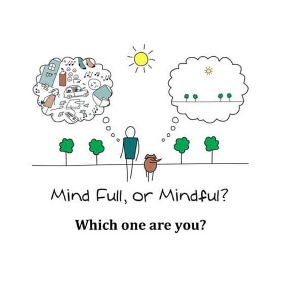 Workshop Promotional Drawing for Mind Full or Mindful? Which One Are You?