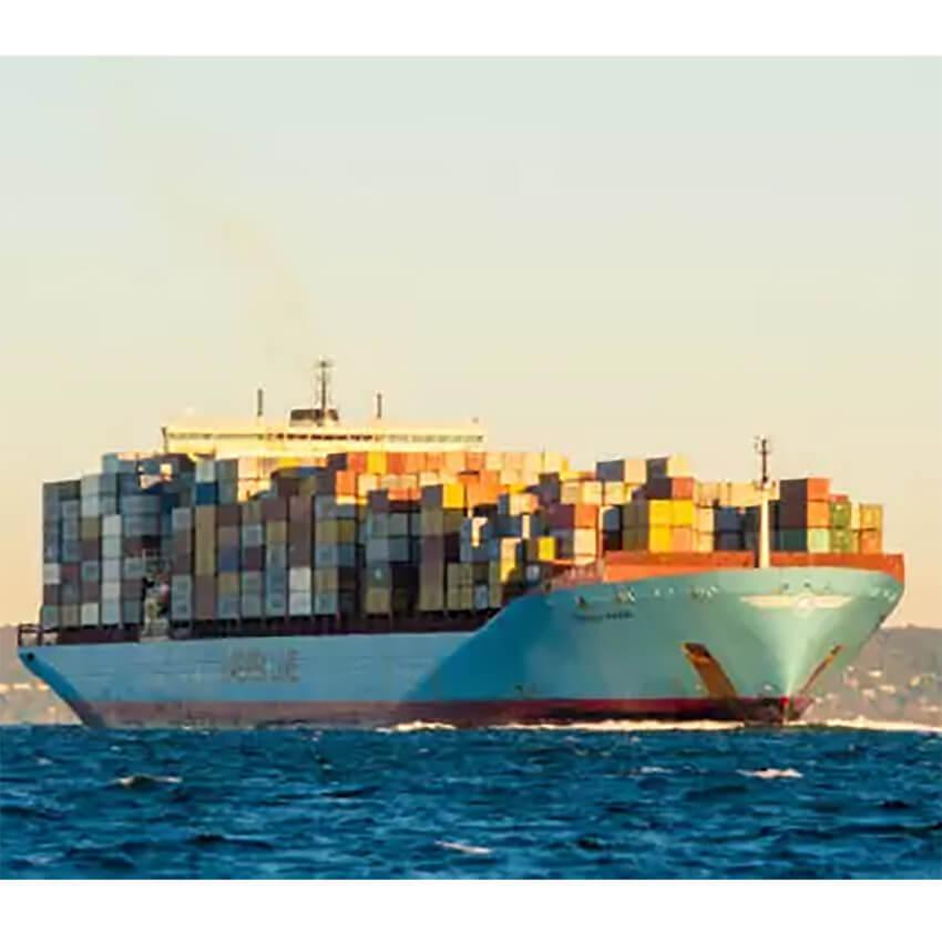 Photo of cargo ship at sea