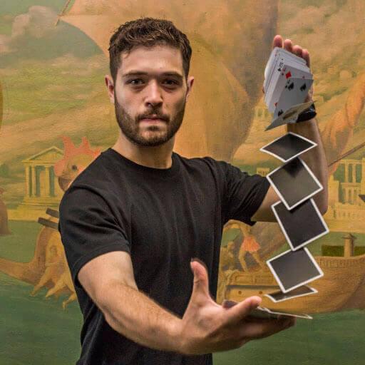 John Stessel performing a card trick
