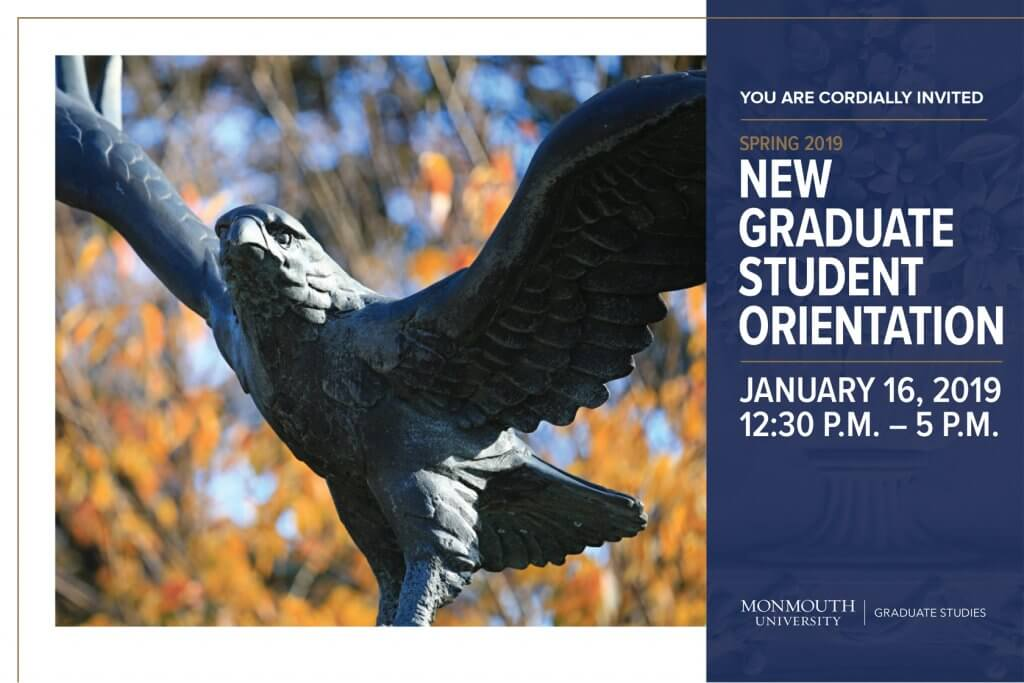 Attend the Spring 2019 New Graduate Student Orientation