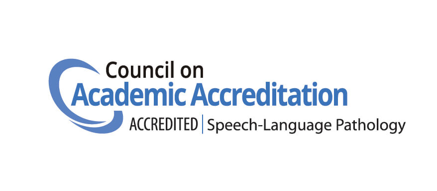 The speech-language pathology at Monmouth University is accredited by the Council on Academic Accreditation in Audiology and Speech-Language Pathology (CAA)