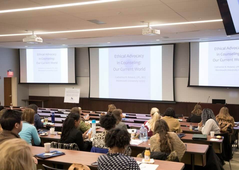 Photo of audience at 2017 Counseling Conference at Monmouth University