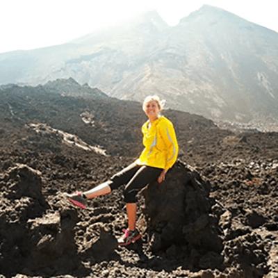 Photo of Katelyn White hiking at Pacaya Volcano in Guatemala