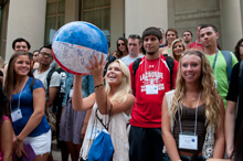 Students with Beach Ball