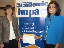 United Nations Academic Impact Member Certificate