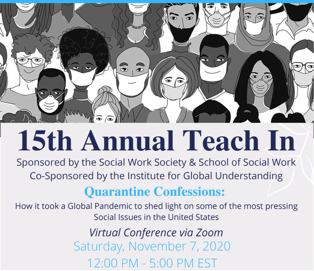 Click poster image for more information and online registration for Teach-In 2020