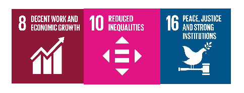 Sustainable Development Goals 8, 10 and 16: Justice and Social Equality