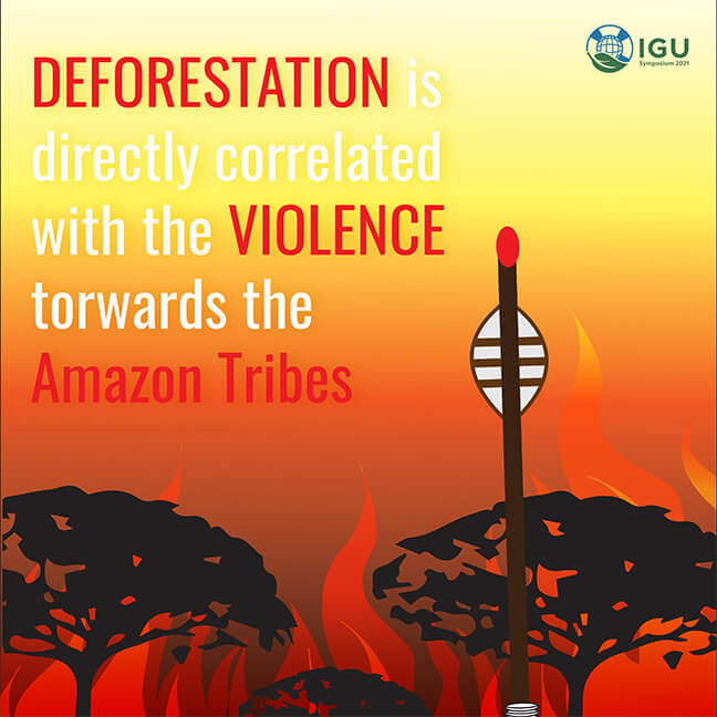 Poster Image: Deforestation Is Directly Correlated With The Violence Towards The Amazon Tribes