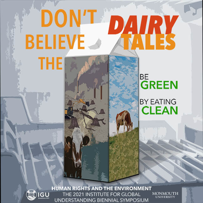 UGU Poster Image: Don't Believe The Dairy Tales: Be Green by Eating Clean