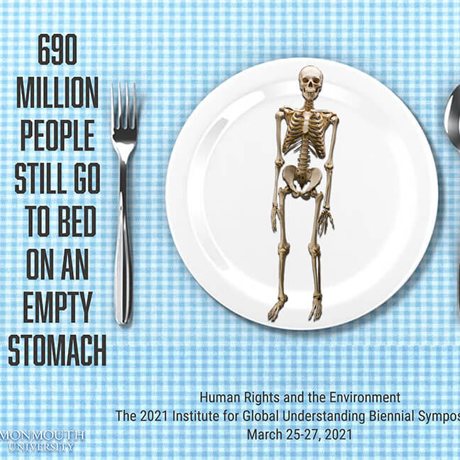 Poster Image: 690 Million People Still Go to Bed on an Empty Stomach