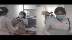 Photo of Hospital Staff Masked