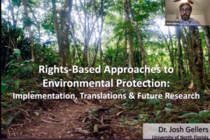 Click screenshot image to access video of Human Rights and the Environment Panel panel session