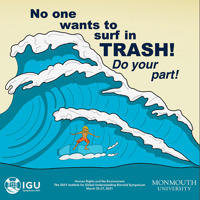IGU Poster No One Wants to Surf in Trash! Do Your Part!