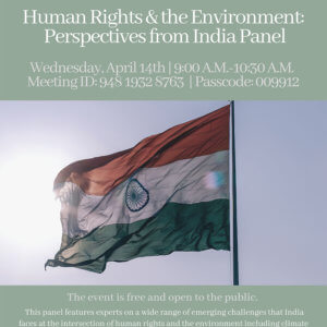 Photo image of IGU Event Titled Human Rights & the Environment - Perspectives from India Panel