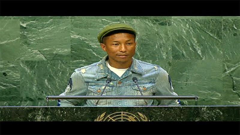 Photo of UN Speaker at Podium
