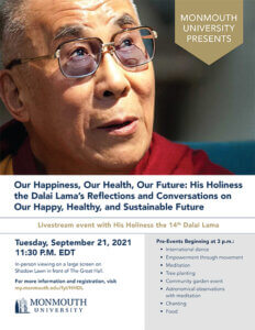 Photo image of Dalai Lama Livestream Event Flyer - Click or tap for all event-related information and registration