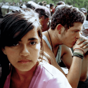 Photo image from the film Sin Nombre. Click or tap for information and registration to view film and participate in virtual panel discussion.