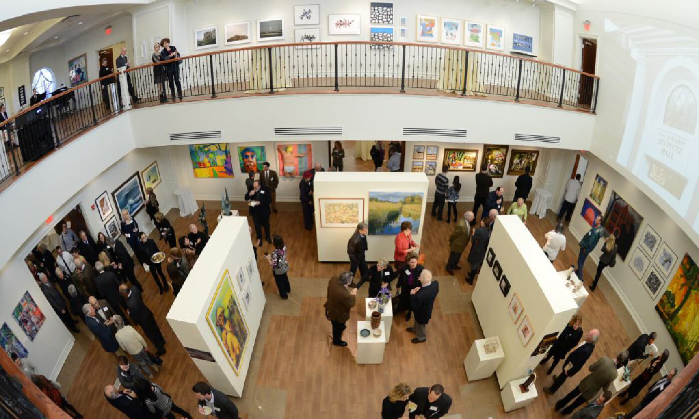 Arial photo of Monmouth Art Gallery
