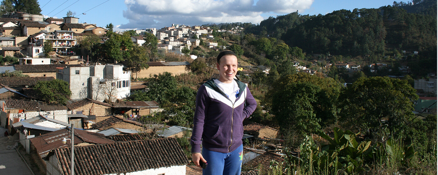 Portait photo of monmouth student in Guatamala