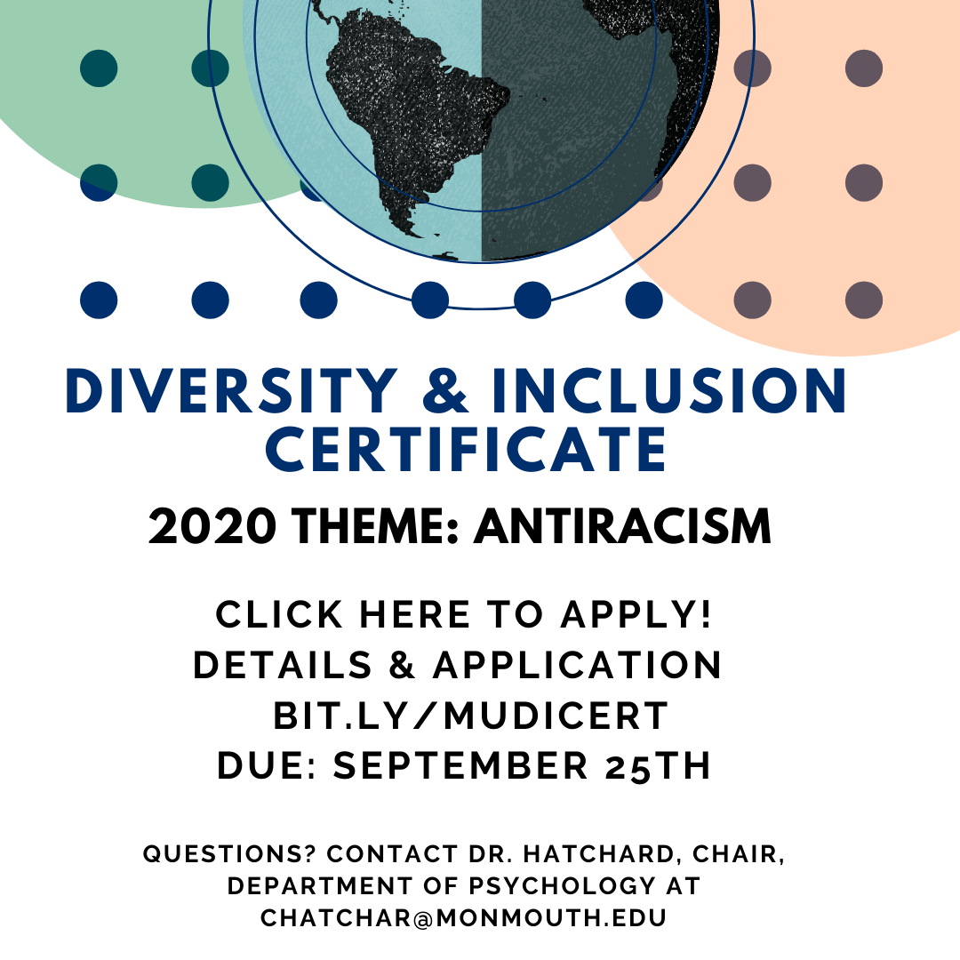 Graphic for Diversity and Inclusion Certificate: 2020 Theme Antiracism