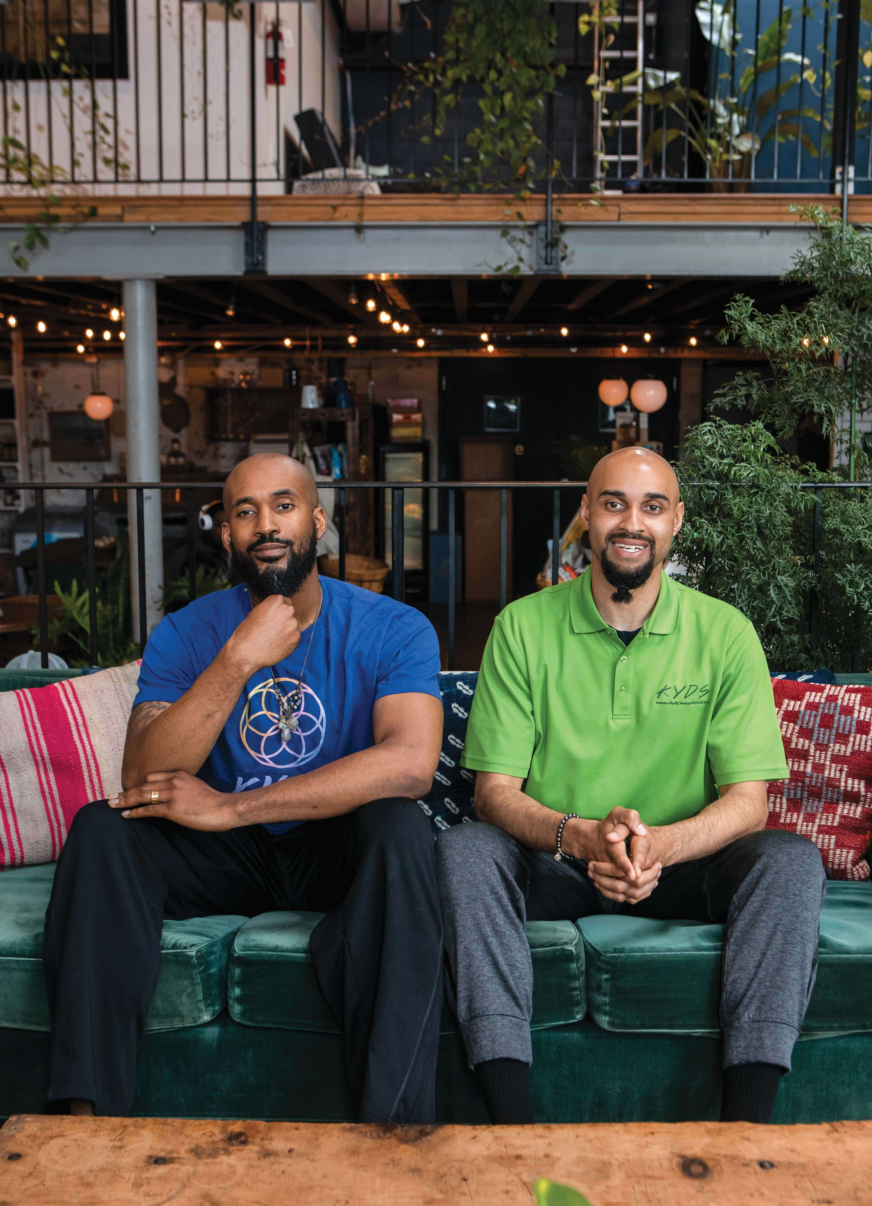 Salomon (left) and Mills pictured in Asbury Park's High Voltage Café, where they regularly meet for strategy sessions.