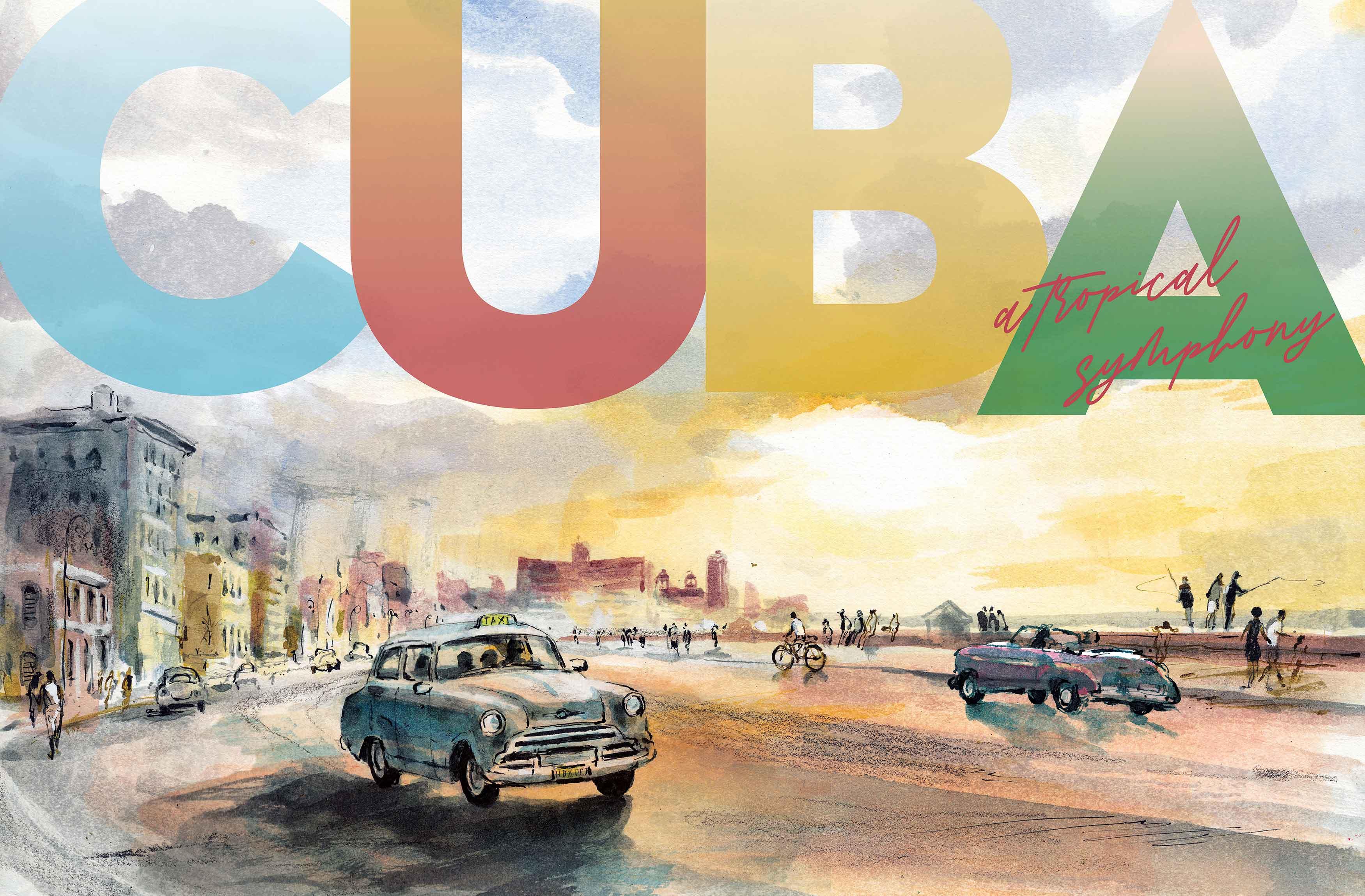 An illustration of a beach in cuba