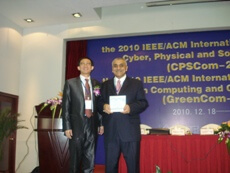 PROFESSOR OBAIDAT GIVES THE MAIN KEYNOTE SPEECH AT AN INTERNATIONAL CONFERENCE IN CHINA AND RECEIVES THE PRESTIGIOUS IEEE OUTSTANDING LEADERSHIP AWARD