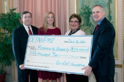 $50,000 AWARDED TO MONMOUTH UNIVERSITY BY OCEANFIRST FOUNDATION