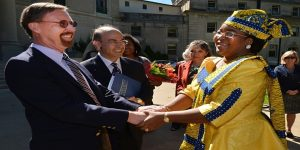 First Lady of the United Republic of Tanzania Visits Monmouth University