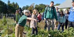 Monmouth University World Hunger Class Visits Community Garden