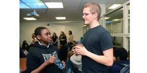 Asbury Park Middle School Students Met with Pen Pals at Monmouth University on April 23