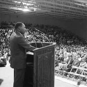 """A long, long way to go"" – Fifty years ago this month, Martin Luther King Jr. addressed a Monmouth audience"