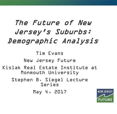 Evans Future Of NJ Suburbs Presentation